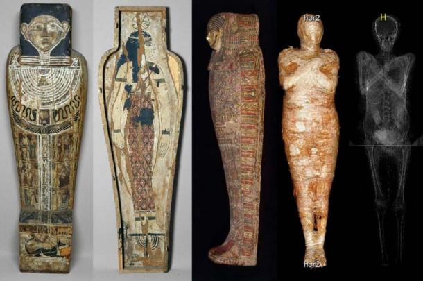 The pregnant mummy was identified by x-ray and CT scanning. Source: Journal of Archaeological Science