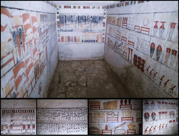 This photo shows the tomb of the priest known as Sabi.