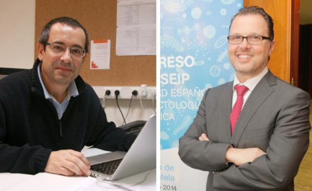 Antonio Salas Ellacuriaga, professor of Medicine at the University of Santiago de Compostela and Federico Martinón, head of clinical pediatrics at the Clinical Hospital of Santiago de Compostela.
