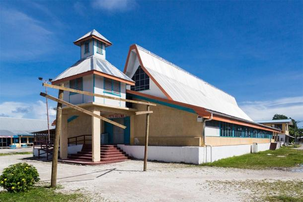 Most prominent building on Funafuti atoll, Fetu Ao Lima or Morning Star Church (Dmitry/ Adobe Stock)
