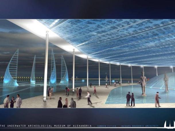 Design of the proposed underwater museum of Alexandria.