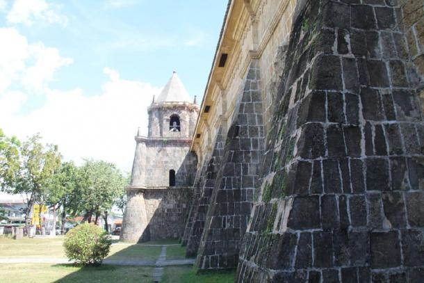 The protective walls of Miagao Church (Public Domain)