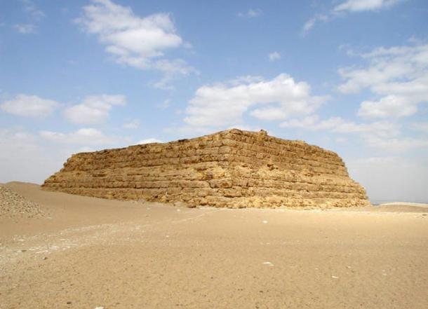 A prototype pyramid, the Mastabat al-Fir'aun at Saqqara.