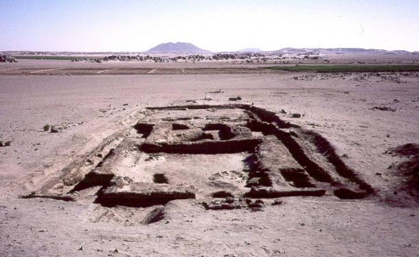 The remains of a pyramid at Tombos.