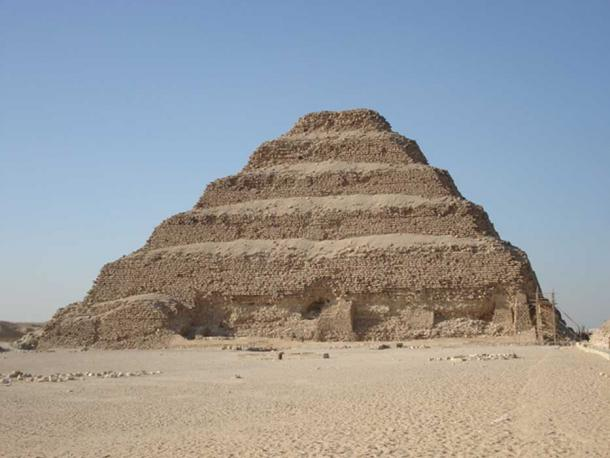 The famous step pyramid of Djoser
