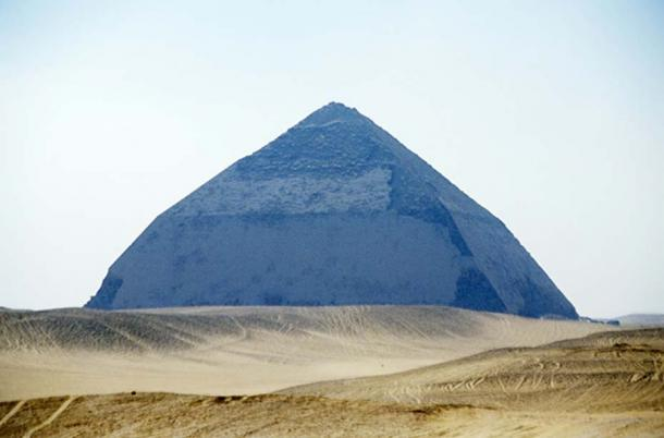 Bent pyramid of Sneferu, Dahshur, Egypt.