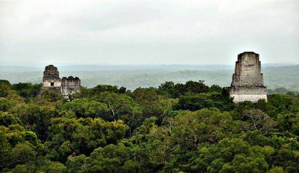 According to ancient Tibetan myths, pyramids of Central and South America (pictured, Tikal in Guatemala) are settled on vast networks of underground tunnels, connecting the ancient cities with the sacred kingdom they refer to as Agartha.