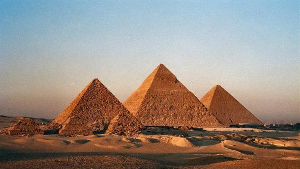 Fig 6. They pyramids of Giza, Egypt.