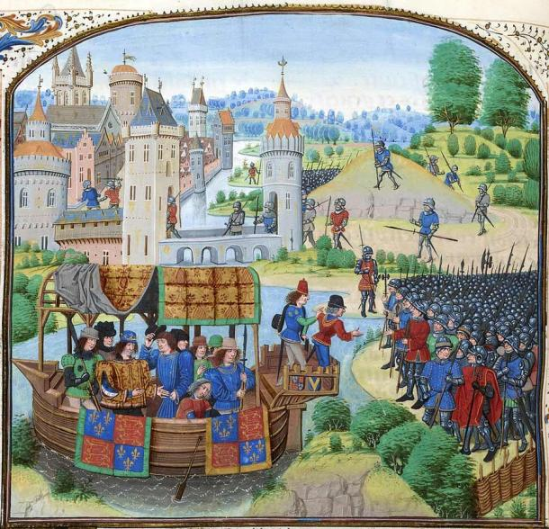 The rebels of the 1381 Revolt meeting with Richard II. (Public domain)