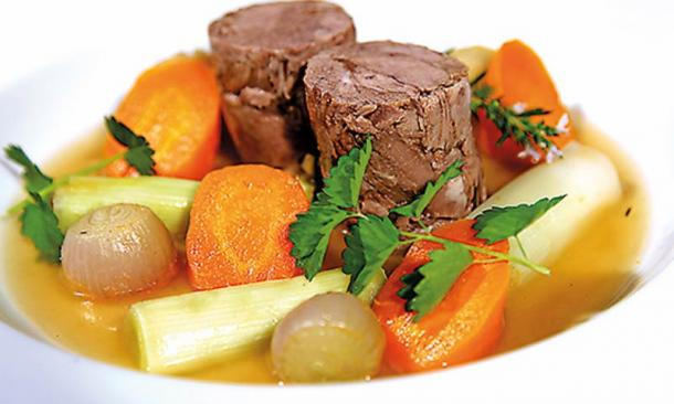 YBC 4644, recipe 20, can be successfully interpreted as a stew made with lamb, licorice, vegetables and juniper.