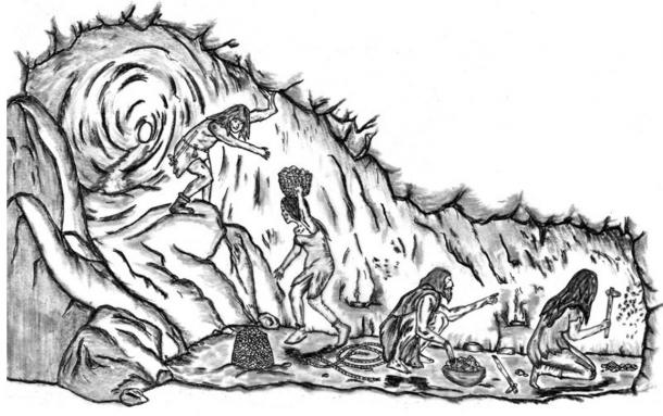 A reconstruction of mining activities from the researchers' article in Antiquity