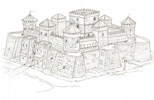 Possible reconstruction of the Rocha Forte castle.
