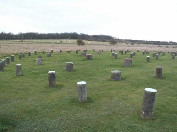 A reconstruction of the Woodhenge site, which is a United Nations World Heritage site.