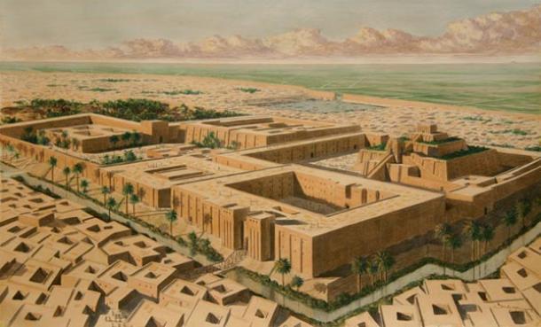 Artist's reconstruction of the Sumerian city of Ur.