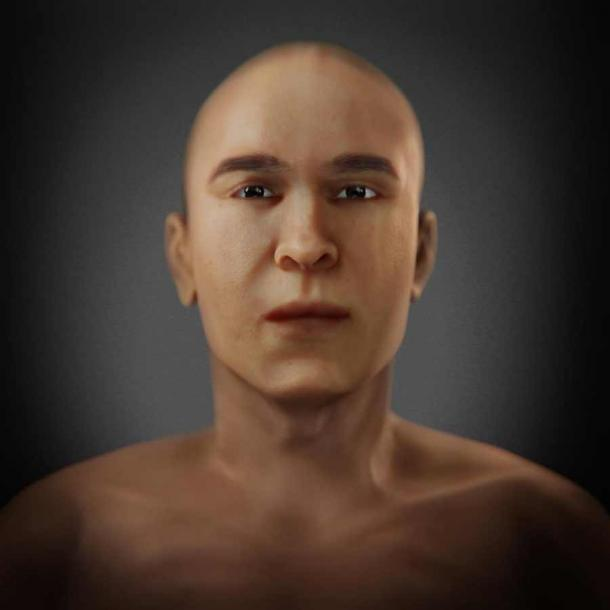 The facial reconstruction of mummy KV55. (FAPAB Research Center)