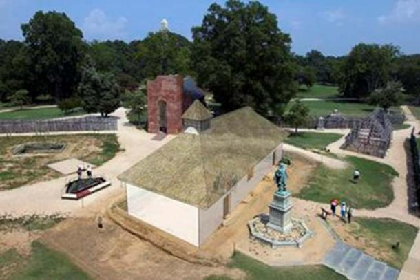 A reconstruction of what Jamestown may have originally looked like