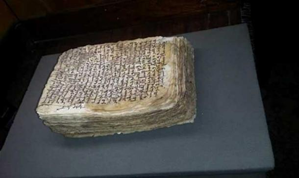 The recovered manuscript.