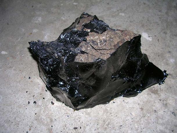 Cold, refined bitumen.
