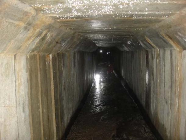 The reinforced concrete section of the Ducal Castle tunnel, which dates from WWII. (Zamek Książąt Pomorskich w Szczecinie)
