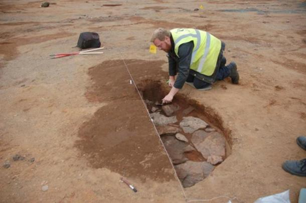 The remains of the Roman marching camp were uncovered during building work. (GUARD Archaeology Ltd)