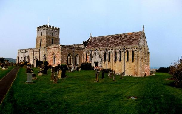 The remains were interred at St. Aidan's Church in Bamburgh. (JohnArmagh / CC BY-SA 4.0)