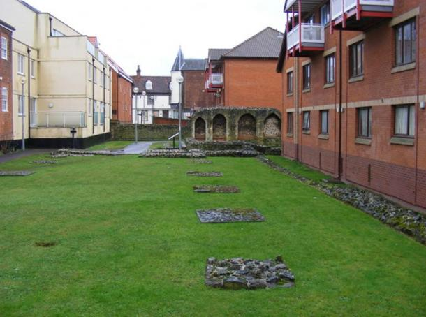 The remnants of the Blackfriar's friary in Ipwich