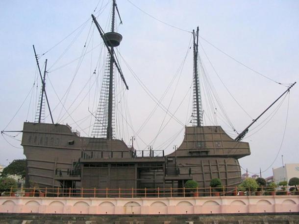 A replica of Flor do Mar, Maritime Museum of Malacca.