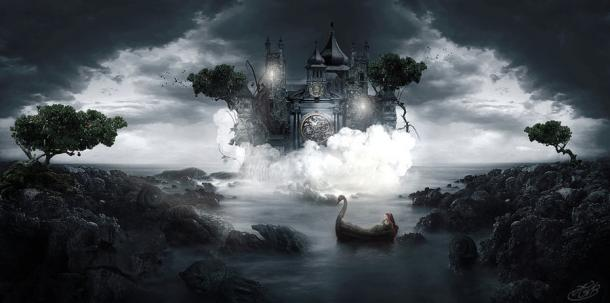 Artist's representation of Avalon.
