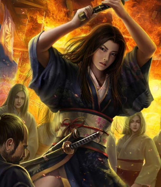 A representation of Chiyome with her kunoichi.
