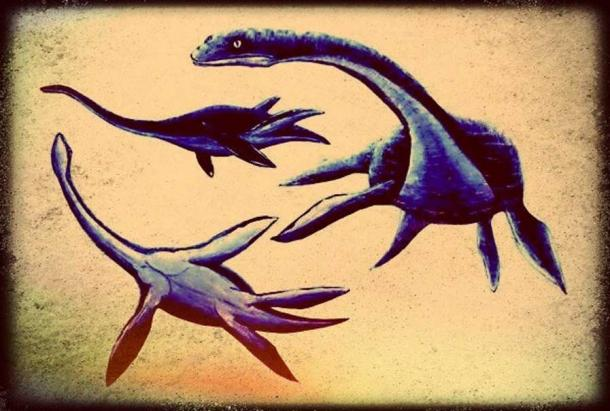Artistic representation of plesiosaurs (Legendz Collective)