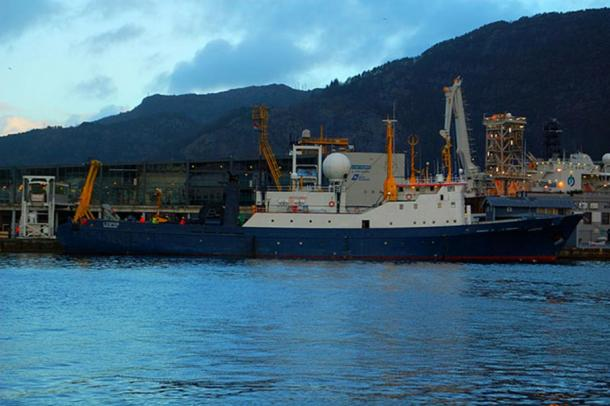 A research vessel, the L'Espoir in Bergen, Norway.