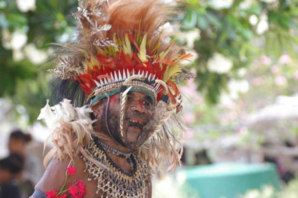 A resident of Boga-Boga, a village on the southeast coast of mainland Papua New Guinea.