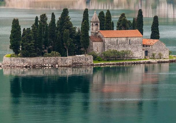 The presumed resting place of Count Vicko Bujović is at the St George Monastery, Perast, Bay of Kotor, Montenegro. (Diego Delso / CC BY-SA 3.0)