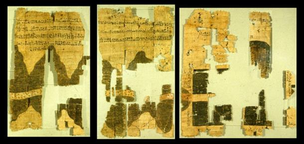 Right half of the Turin papyrus map, courtesy J. Harrell.