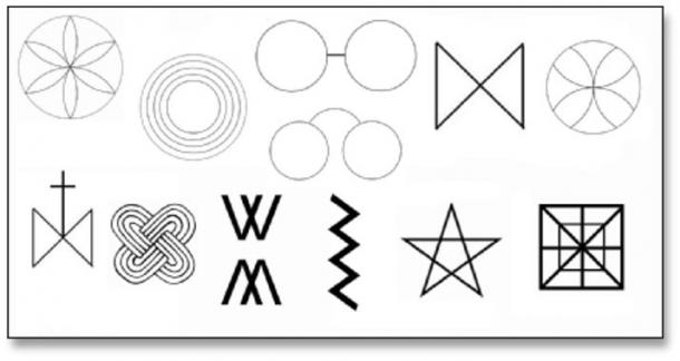 Some popular ritual protection marks