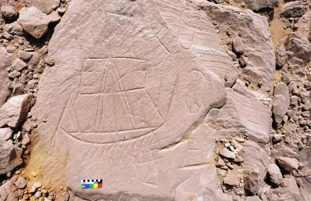 A rock carving found in the Egyptian deserts by Polish researchers. (P. Polkowski / Science in Poland)