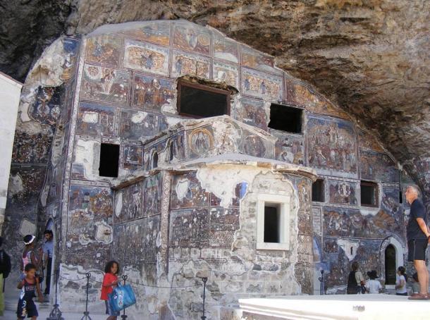 The fresco-covered rock church of Sumela