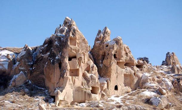 The rock houses of Cappadocia.