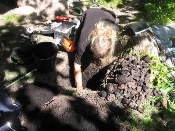 Researchers excavated the rock shelter, uncovering animal bones.
