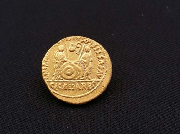 One of the Roman coins found in the shipwrecks (Image: Egyptian Ministry of Antiquities)