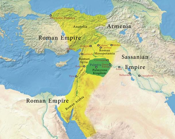Regions under the authority of Odaenathus of Palmyra.