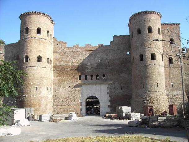 Rome's Asinarian Gate, through which Totila the Ostrogoth entered the city to sack it in 546 AD