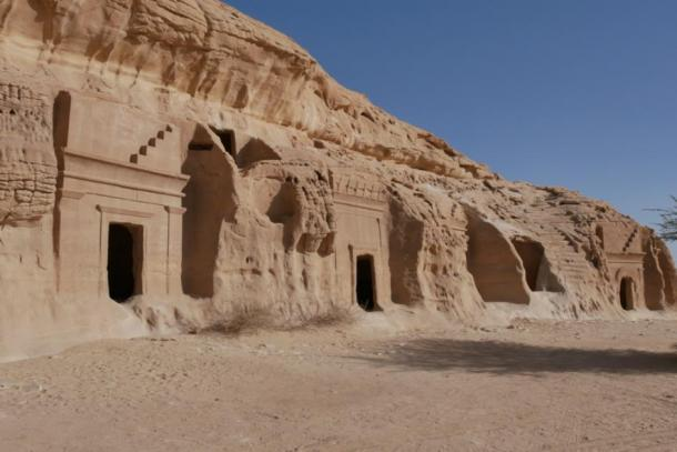 A row of tombs, Mada'in Saleh, Saudi Arabia (mstarling / Adobe Stock)