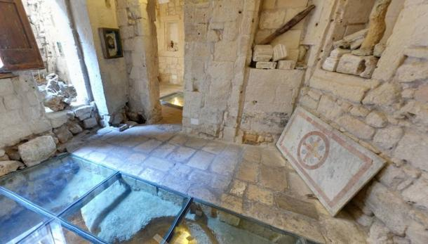 The ruins and chambers discovered due to the excavations of Luciano Faggiano.