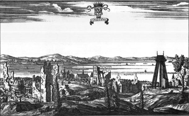 The ruins and remains of the city Sigtuna in Sweden.