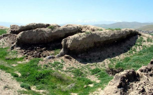 Part of the ruins at Godin Tepe, Iran.