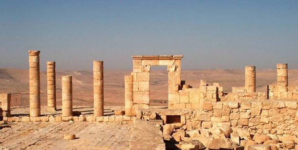 The ruins of Avdat, a city on the ancient incense route