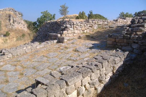 Part of the ruins of Troy in modern Turkey. Some believe that the London Stone's journey began here.