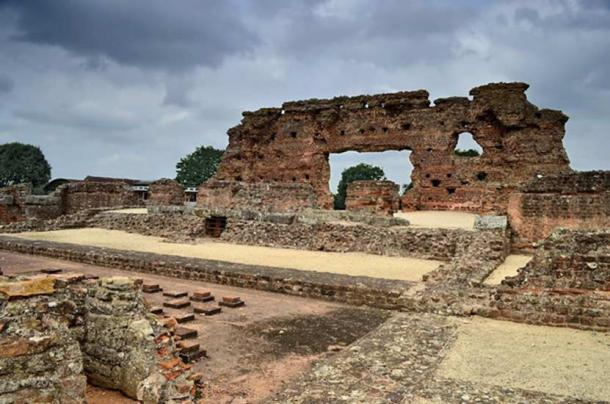 The ruins of Viroconium in central Britain, perhaps the site of the historical Camelot.