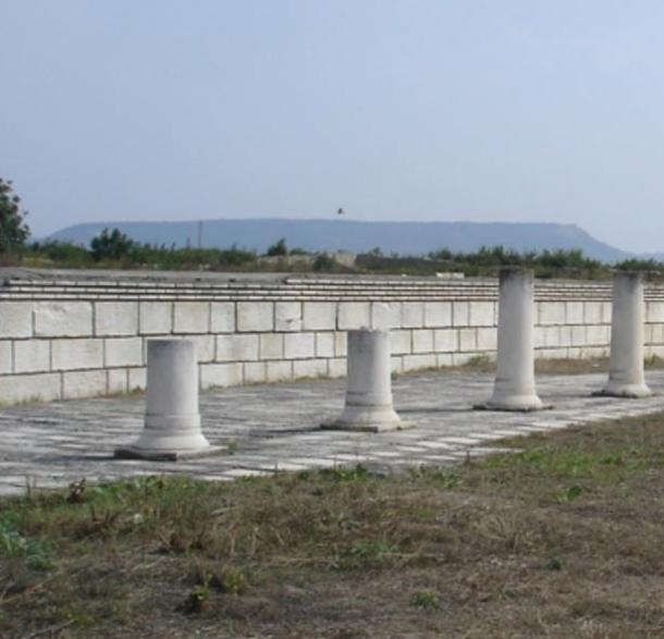 The ruins of the basilica in Pliska, Bulgaria's first capital.